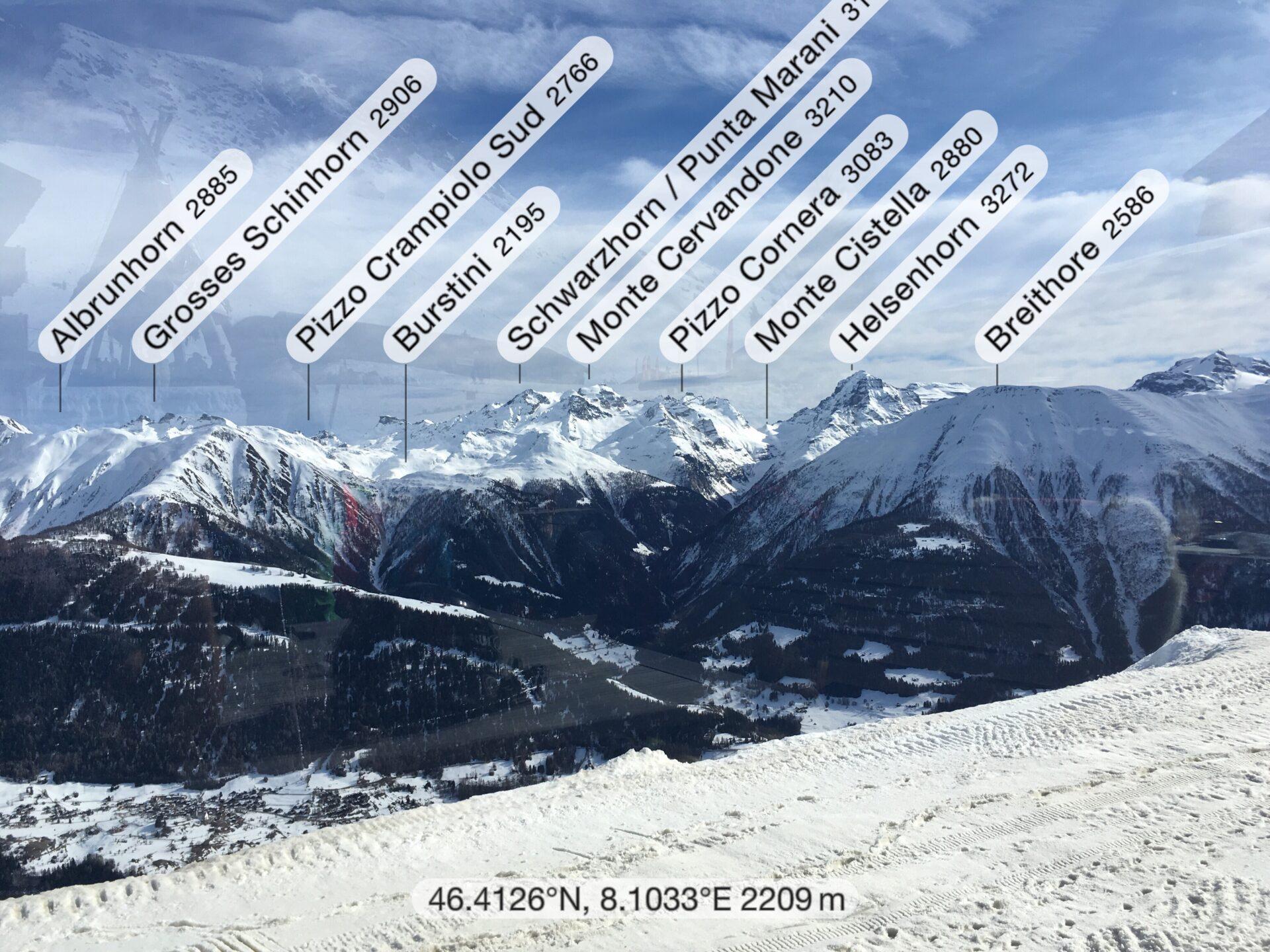 Aussicht auf die Berge in der Umgebung