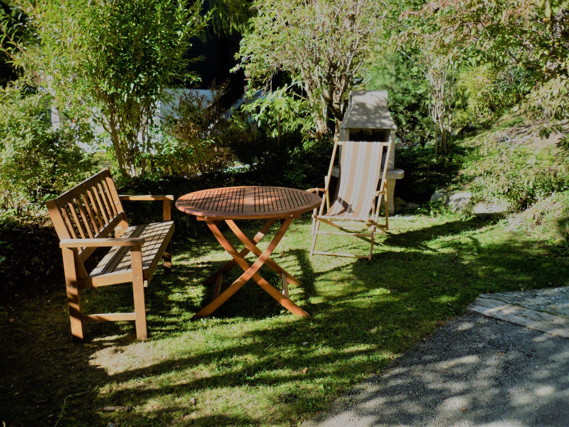 Sitzplatz mit Cheminé
